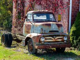 Rusty Old 1955? Ford C600 Cab Over Engine Truck | Guilford, … | Flickr