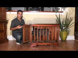 How To Build A End Table Dog Crate by Glendale Woodworking Custom Furniture Style Dog Crate Youtube