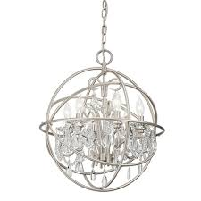 Kichler Vivian 1902 In 5 Light Brushed Nickel Hardwired Clear Glass Globe Standard Chandelier