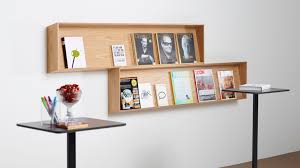 Wall Mounted Display Rack Periodicals Oak