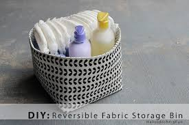 Decorating Fabric Storage Bins by Diy Reversible Fabric Storage Bin Haberdashery Fun