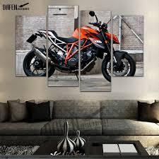 4 panel hd leinwand malerei duke sport motorrad für wohnzimmer wohnkultur wand kunst kühle wand bild poster bild