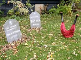 Diy Halloween Tombstones Plywood by Whimsical Garden Decor Gardens Pinterest Gardens And Decor