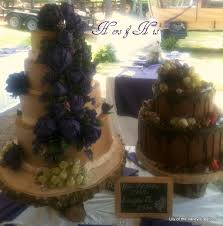 Rustic Wedding Cake With Live Succulenta