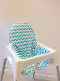 assise chaise haute coussin chevron petrol pour chaise haute antilop de ikea