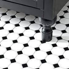 white gloss floor tiles homebase black and white tile evokes the