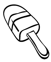 Ice Popsicle Coloring Page