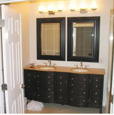 Modern Bathroom Vanity Sconces by Bathroom Double Under Mounted Sink Vanity With Double Mirror And