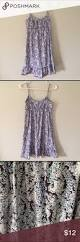 loft spaghetti strap blue patterned dress size xs vestido de