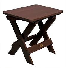 Highwood Folding Adirondack Side Table Weathered Acorn