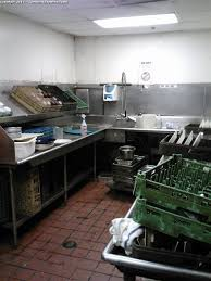 industrial kitchen cleaning before image