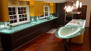 100 Kitchen Glass Countertop With Aqua S Angies List
