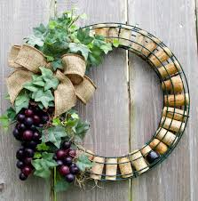 Grape Decor For Kitchen by Wine Cork Wreath With Grapes By Darsisdesigns On Etsy Wreaths