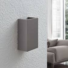 büromöbel wandleuchte smira beton lenwelt halogen g9