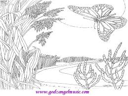 Coloring Pages Of Sky Scene