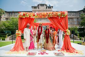 This Beautiful Outdoor Ceremony Is A Traditional Hindu Event