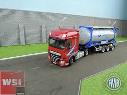 100 20 Ft Truck 012703 WSI DAF XF 4x2 With Container Trailer Ft Tank