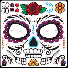 Easy Sugar Skull Day Of by Day Of The Dead Better Than Make Up Face Tempoary Tattoos
