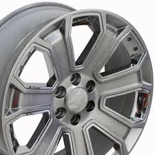 20-inch Chrome Insert Hyper Black Rims Fit Chevy Silverado - CV93 ...