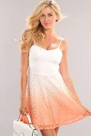 peach crochet spaghetti strap dress amiclubwear