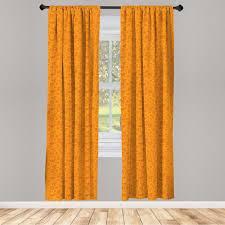 gardine fensterbehandlungen 2 panel set für wohnzimmer schlafzimmer dekor abakuhaus orange kürbis schä kaufen otto