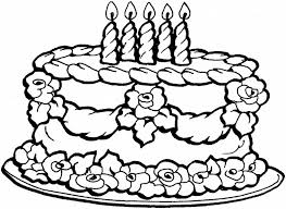 Happy Birthday Cake Coloring Pages For Girls