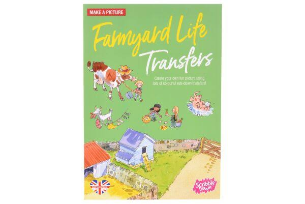 Scribble Down Farmyard Life Transfers
