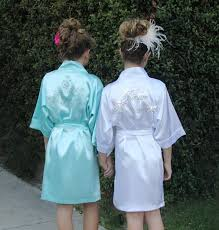 Junior Bridesmaid Bridal Party Robes For Getting Ready On The Wedding Day Robe Comes