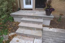 india stone on concrete porch parged sides hobsonlandscapes