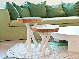 tree trunk decor ideas tables stools mirrors and floating shelves