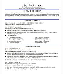 16 civil engineer resume templates free sles psd exle