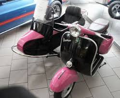 1969 Vespa Scooter With Side Car