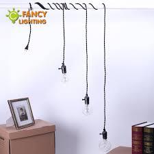 5M Aluminum 3 Lampholder Pendant Lights EU Plug Spider Lamp For Home Dining Room