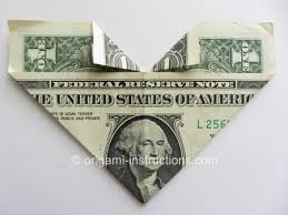 Christmas Money Origami Instructions Easy Heart Download