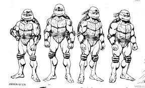 Ninja Turtles Coloring Page Book All Free Online