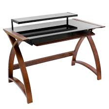 Black Glass Corner Computer Desk by Home Glass Computer Desk Combine Wood