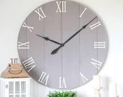 36 Wall Clock Chalk Medium Grey Paint Large Living Room