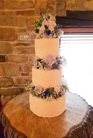 Rustic Floral Wedding Cake Three Tiers By White Rose Design Bespoke Cakes In Holmfirth