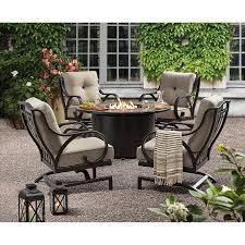 Member's Mark Harbor Hill 5-Piece Fire Chat Set - Sam's Club | Fire ... Hanover Summer Nights 5piece Patio Fire Pit Cversation Set With Amazoncom Summrnght5pc Zoranne 4 Chairs Livingroom Table With Outdoor Gas And Tables Sets Fniture Fresh Ding Shop Monaco 7piece Highding 6 Swivel Rockers And A The Greatroom Company Kenwood Linear Height Alinum Cheap Chair Beautiful Comet 8 Wicker Chat Tank Awesome Top 10 Envelor Oval Brown 7 Piece Poker Stunning