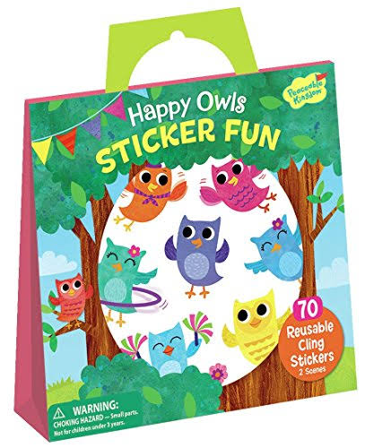 Peaceable Kingdom Happy Owls Sticker Fun Reusable Tote