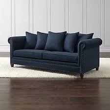 fabric sofas crate and barrel
