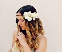 ALINA Romantic Rustic Flower Crown Magnolia Wedding Hair Accessories Halo Floral Headband Headpiece