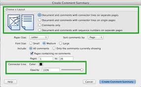 Figure 7 Document And Comments With Connector Lines On Separate Pages