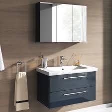 badmöbel set neapel 2 tlg hochglanz anthrazit spiegelschrank waschbeckenschrank 80cm