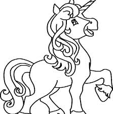 Easy Unicorn Coloring Page Freeappdaily Intended For Cute Printable Pages