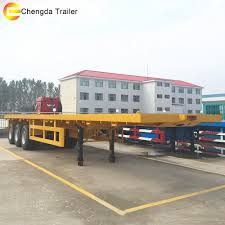 2 Axle 20ft New Flat Bed Truck Chassis 3 Axle 40 Feet 40ft Container ...