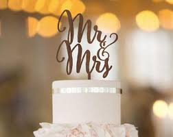 Mr Mrs Wedding Cake Topper Rustic And