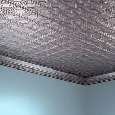 fasade traditional 4 2 x 4 pvc glue up ceiling tile at menards
