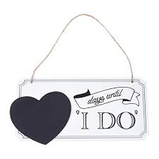 KLOUD City Days Until I Do Wedding Countdown Sign Wooden Hanging Chalkboard Plaque With A Twine