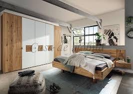 schlafzimmer komplett verona wildeiche massiv natur geölt mit hirnholz casade mobila